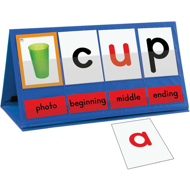 Word Building Desktop Pocket Chart Tent and Cards Kit