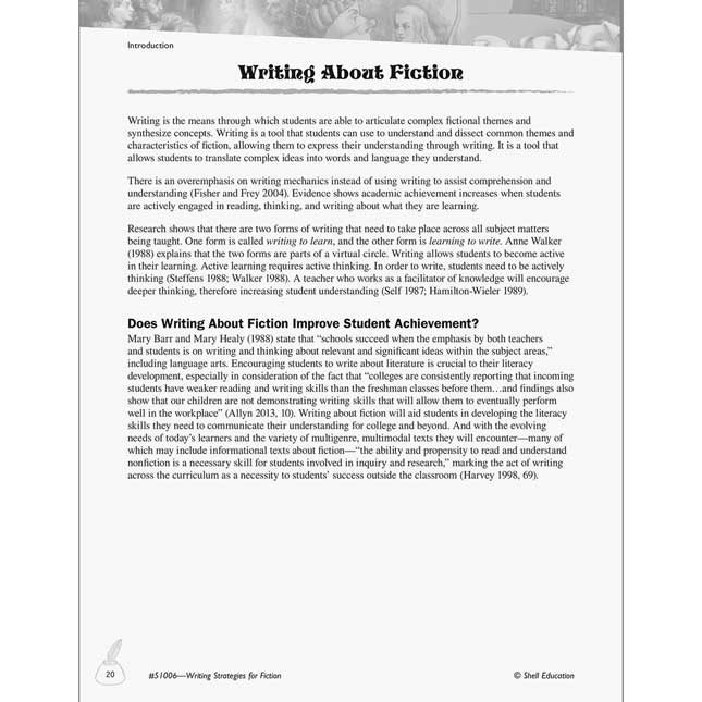 Writing Strategies For Fiction Book