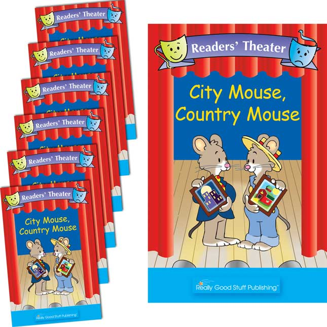 Really Good Readers' Theater - City Mouse, Country Mouse Student And Big Book Set