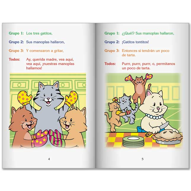 Really Good Readers' Theater: Three Little Kittens (Teatro Del Lector: Tres Gatitos) - 6 books