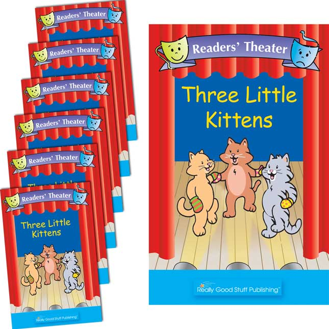 Really Good Readers' Theater - Three Little Kittens Student And Big Book Set