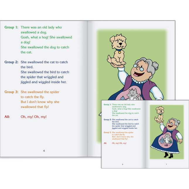 Really Good Readers' Theater - The Old Lady Who Swallowed A Fly Student And Big Book Set
