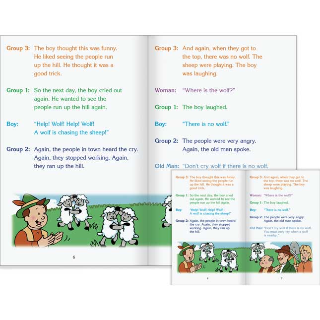 Really Good Readers' Theater - The Boy Who Cried Wolf Student And Big Book Set