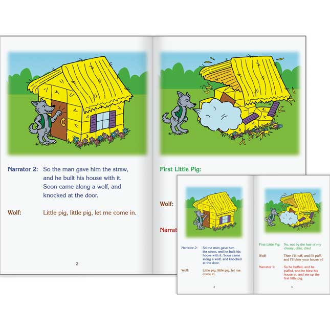 Really Good Readers' Theater - The Three Little Pigs Student And Big Book Set
