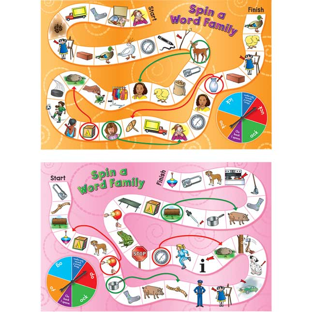 Spin A Word Family Board Games