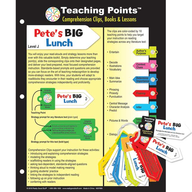 Teaching Points™: Clips and Trifold Lesson Plan - Pete's Big Lunch