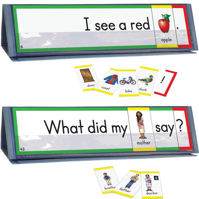 Sight Word Sentence Builders: Dolch Word Cards and Desktop Tents Kit