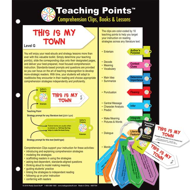 Teaching Points™: Clips and Trifold Lesson Plan - This Is My Town
