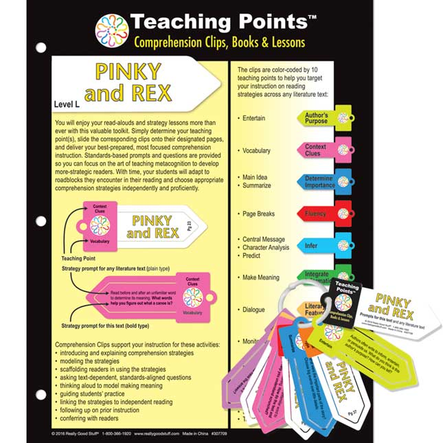 Teaching Points™: Clips and Trifold Lesson Plan - Pinky And Rex