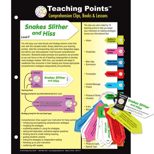 Teaching Points™: Clips and Trifold Lesson Plan - Snakes Slither And Hiss