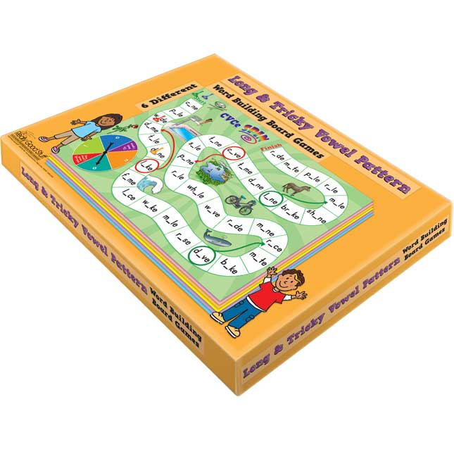Long and Tricky Vowel Pattern Word Building Board Games