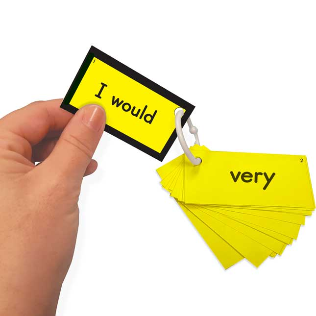 EZread™ Sight Word Mini Flash Cards: Dolch Second Grade (Yellow Set)