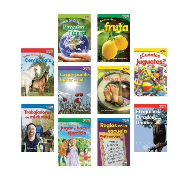 Time for Kids® Informational Text - 10 Books - Grade K, Set 2 - Spanish