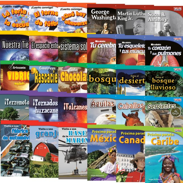 Time for Kids® Informational Text - 30 Books - Grade 2 - Spanish