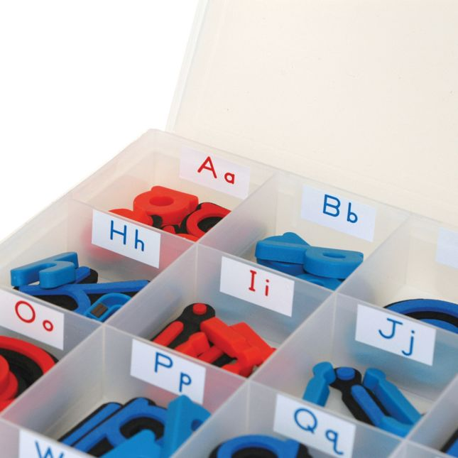 MAGtivity™ Tins With Foam Color-Coded Magnetic Letters Classroom Kit