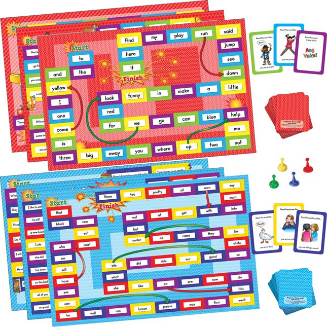 Express Yourself! Sight Word Fluency Game Boards: Pre-Primer And Primer