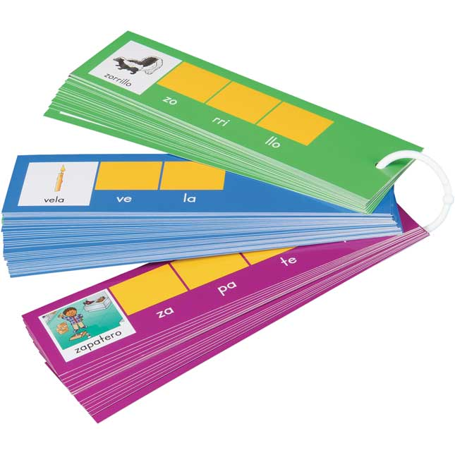 EZread™ Tap-A-Syllable Cards - Spanish