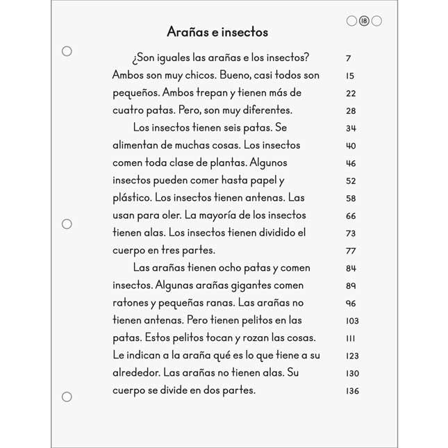 Fluidez Y Comprensión Lectora - Grado 1 (Fluency For Comprehension Passages - Grade 1)