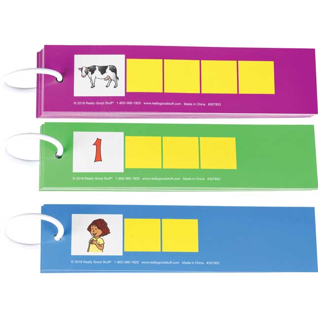 EZread™ Spanish Tap-A-Sound-Box Cards - 75 cards