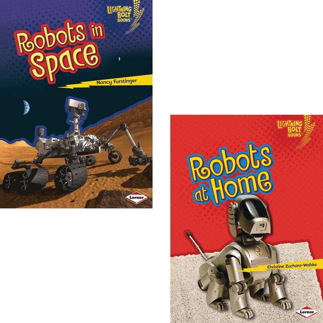 Lightning Bolt Books: Robots Everywhere 4-Book Set