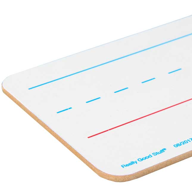Two-Sided Primary-Lined Sentence Strip Dry Erase Boards - 12 boards