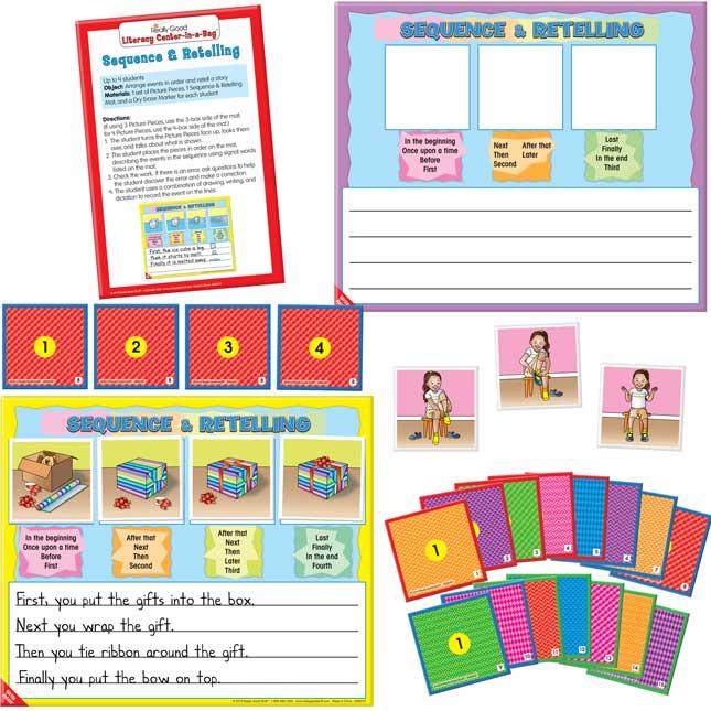 Literacy Center 4-Pack Grades K-1, Set 1