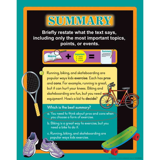 Comprehension Poster Trio: Main Idea, Summary and Inference - 3 posters
