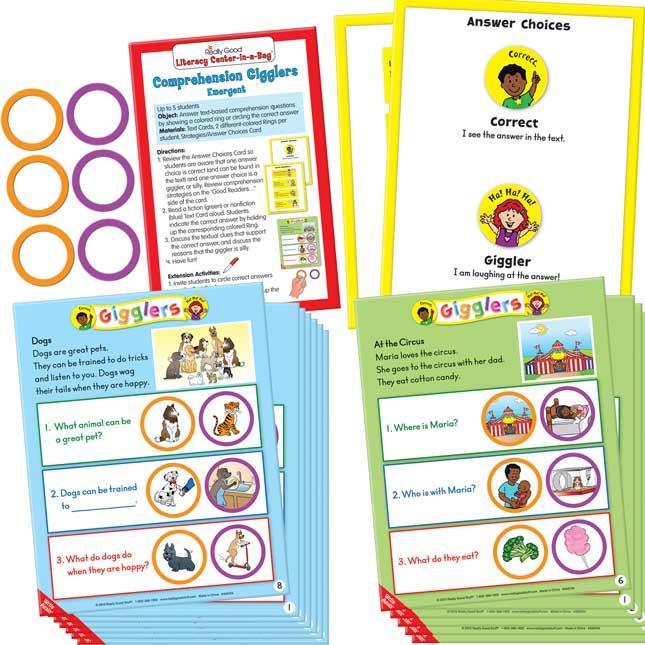 Literacy Center 4-Pack Grades K-1, Set 3