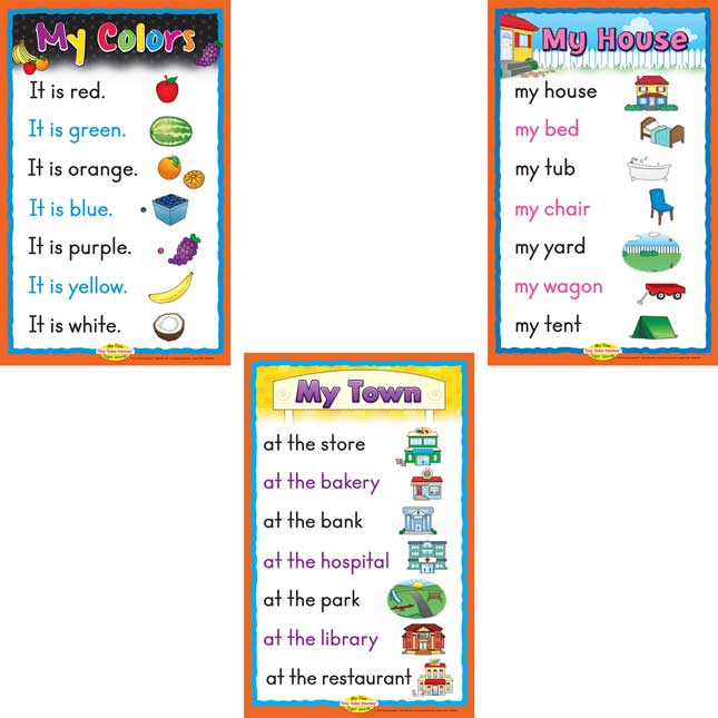 Sight Word Story Charts: Level PreA