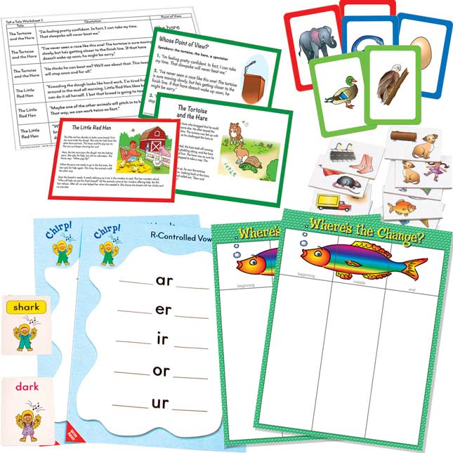 Literacy Center 4-Pack Grades 2-3, Set 1