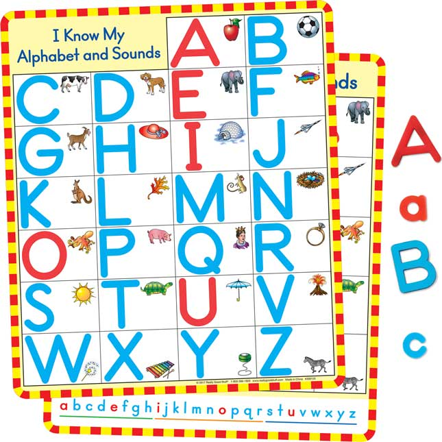 Magnetic Alphabet Charts And Letters Kit