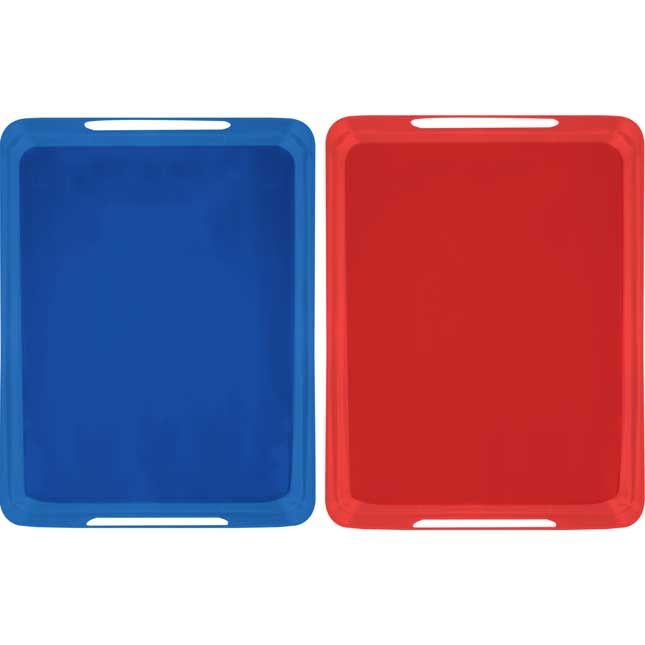 Really Good MAGtivity™ Tins Storage Rack With Red And Blue MAGtivity™ Tins - 1 rack, 6 tins