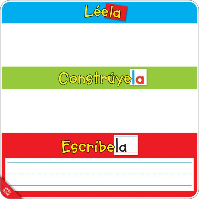 Spanish Magnetic Read, Build, And Write Boards With Magnetic High-Frequency Words And Letters Kit - 1 multi-item kit