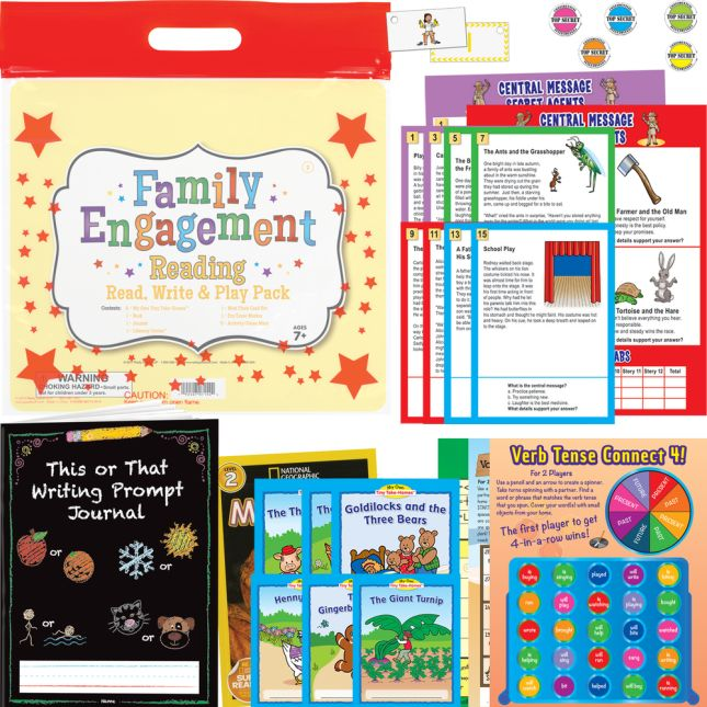 Family Engagement Reading - Read, Write and Play Pack - Second Grade