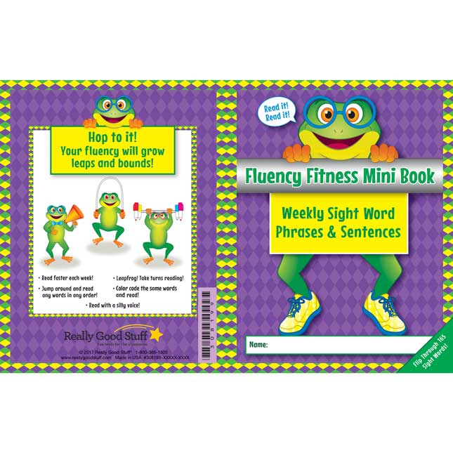 Fluency Fitness Mini Books - Weekly Sight Word Phrases and Sentences