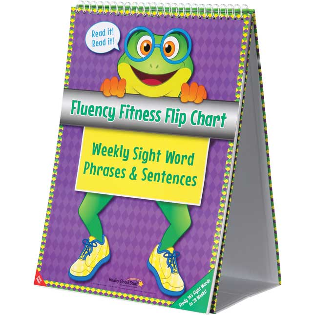 Fluency Fitness Flip Chart Weekly Sight Word Phrases And Sentences - 1 flip chart