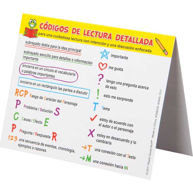 Triangulitos de Lectura detallada (Spanish Close Reading Tents)