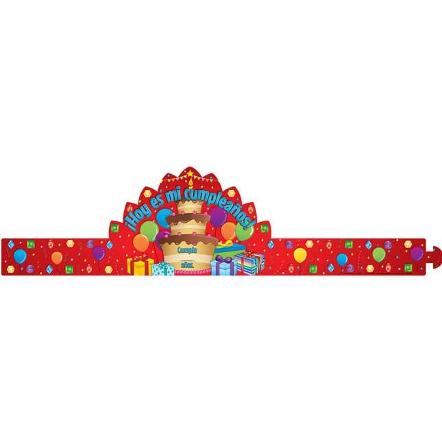 Hoy es mi cumpleaños (Spanish It's My Birthday Crowns)