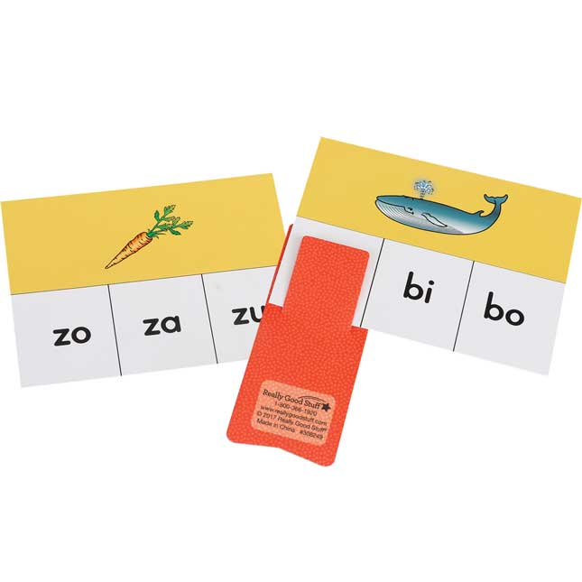 Tarjetas y Clips: Identificar sAlabas (Spanish Syllable Identification Cards And Clips) - 45 cards, 6 clips