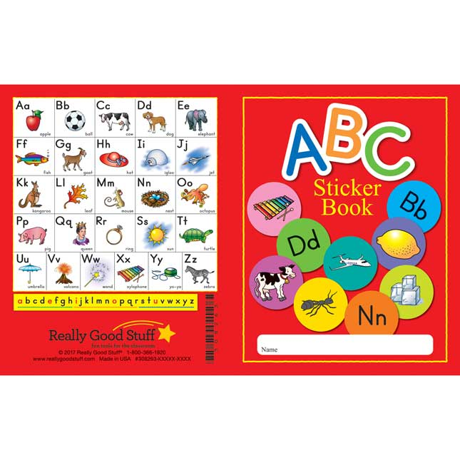 ABC Sticker Books - 12 booklets