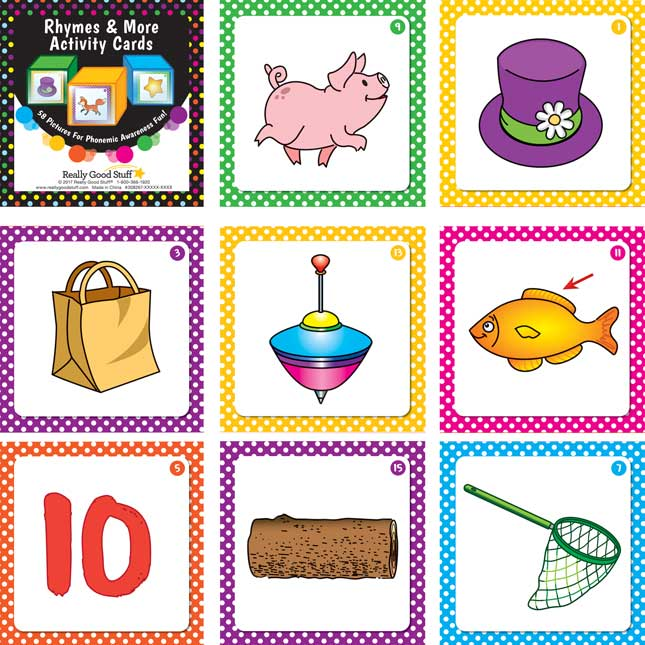 Rhymes And More Activity Cards And Cubes Kit