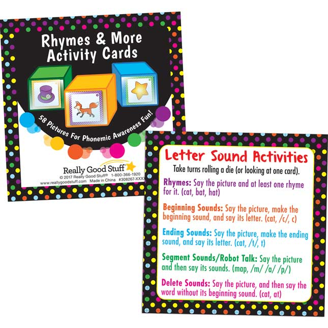 Rhymes And More Activity Cards