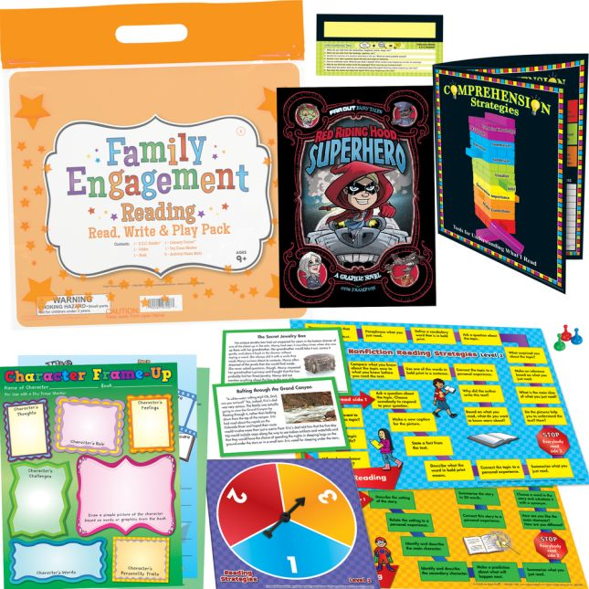 Family Engagement Reading - Read, Write and Play Pack - Fourth Grade