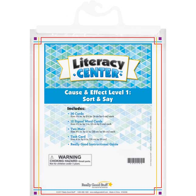 Cause And Effect Level 1: Sort And Say Literacy Center™