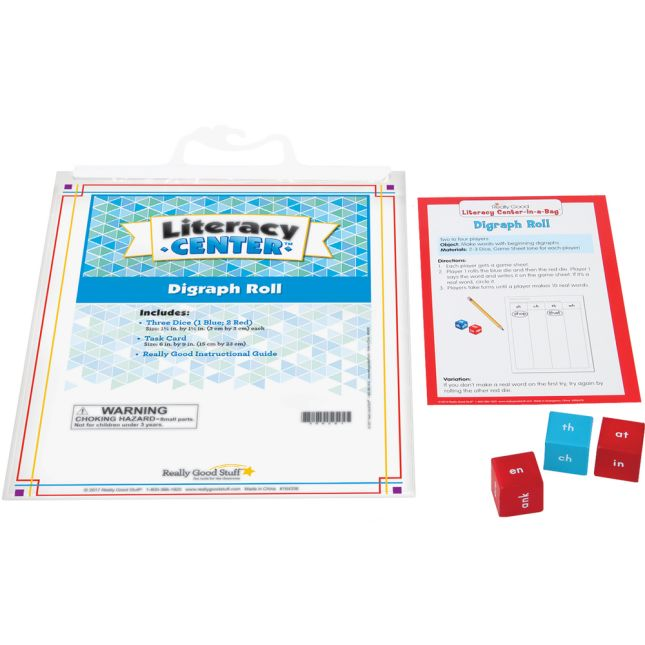 Digraph Roll Literacy Center™ - 1 literacy center