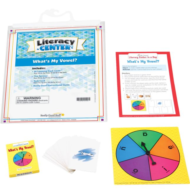 What's My Vowel? Literacy Center™ - 1 literacy center