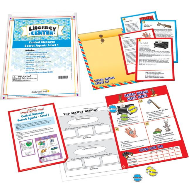 Central Message Secret Agents Level 1 Literacy Center™ - 1 literacy center