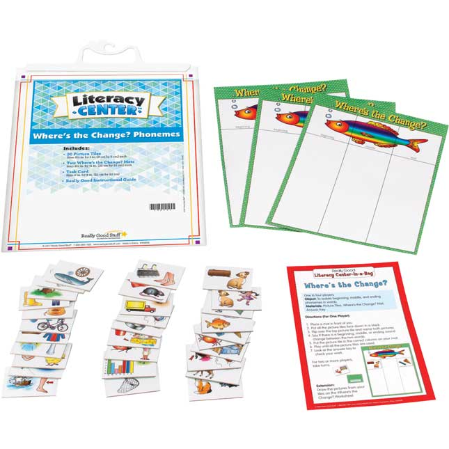 Where's The Change? Phonemes Literacy Center™