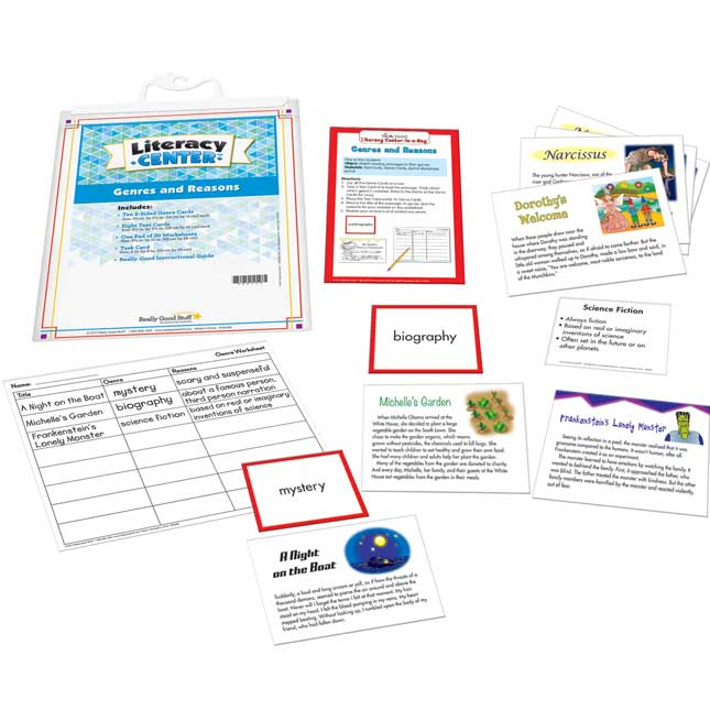 Genres And Reasons Literacy Center™ - 1 literacy center