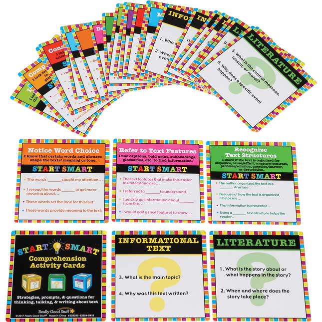 Start Smart Comprehension Activity Cards - 30 cards